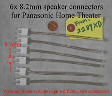 6 speaker cable/wire connectors 8.2mm made for old panasonic home theater; read