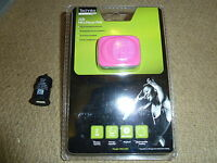 2GB MINI CLIP-ON MP3 PLAYER Bright Pink BRAND NEW SEALED! Bundle + Car Charger