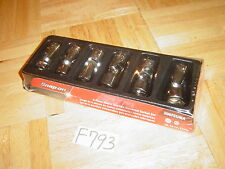 SNAP-ON TOOLS NEW WRAPPED 6 PIECE 3/8 DRIVE METRIC SWIVEL SOCKET SET 10MM - 17MM