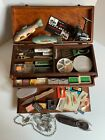 Vintage Hoffman Tackle Box Lot loaded with fishing items