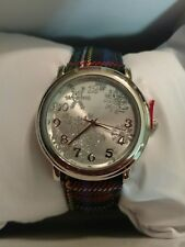 MIXIT Snowflake Silver Tone Plaid band Holiday Christmas Womens Watch JCpennys