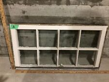 c1920 Antique Vintage Craftsman Wood Window Sash /w Glass 31x17 (A)