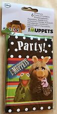 BNIP New Disney The Muppets Pack of 6 Party Invitations - Kermit Miss Piggy