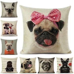 Dog Throw Waist Pillow Case Sofa Cushion Cover Car Office Home Car Bench Decor