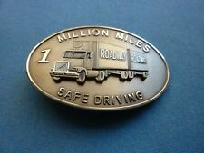 ROADWAY TRANSPORT ONE MILLION MILE SAFETY AWARD BELT BUCKLE ATA PATCH SAFE DRIVE