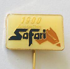 Safari 1990 Australian 4WD Outback Motor Car Event Pin Badge Rare Vintage (J9)