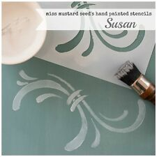 Miss Mustard Seed's Milk Paint hand painted STENCIL mms 05 Susan - reusable