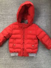 Gucci Baby Boys Hooded Coat Jacket Feather Down Padded Puffer Red 36 Months/3yrs