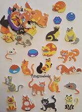 15 FOAM CATS/KITTENS STICKERS - CHILDREN'S CRAFTS/CARD MAKING/SCRAP BOOKING