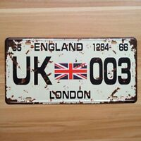 Decorative Novelty License Plate Tin Sign - London, England - Union Jack - Flag
