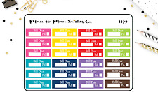 1199~~24 Bill Due Planner Stickers
