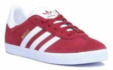 Chaussures rouge pour garçon, daim