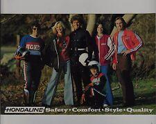 1975 HONDA HONDALINE ACCESSORY Original BROCHURE Vintage Motocross Enduro XL350