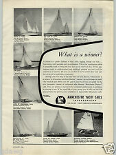 1956 PAPER AD Manchester Yacht Sales South Dartmouth Mass Yawl Dinghy Cutter