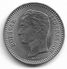 Republica De Venezuela 25 Centimos Coin 1965