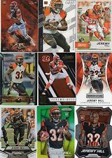 9-jeremy hill lot bengals clear vision 61 classics 60 fire rc 133 prizm refracto