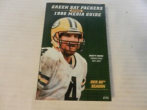 1998 Green Bay Packers Official Media Guide Book Brett Favre on cover
