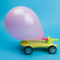Balloon Powered Car Recoil Force Science Technology Experiment Students Toys DIY