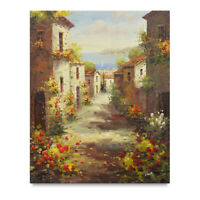 NY Art - Sun-drenched Tuscan Village 20x24 Original Oil Painting - On Sale!!
