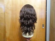 Malky Wig Sheitel European Multidirectional Human Wavy Hair Medium Brown 8-6 L