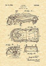 Patent Print - Child's Coaster Wagon 1936. Ready To Be Framed! Creative Gift!