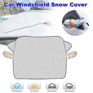 Car SUV Windshield Snow Cover with 2 Layer Protection Fits for Honda Nissan BMW