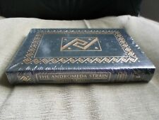 MICHAEL CRICHTON SIGNED - THE ANDROMEDA STRAIN - EASTON PRESS LEATHER SEALED