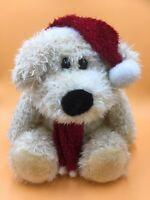 """Dog Puppy Soft Toy With Red Hat & Scarf 17"""" High"""