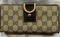 Gucci Long Wallet GG Pattern Canvas Leather