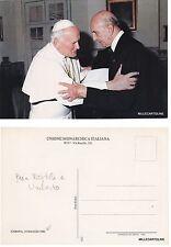 # PAPA WOJTILA E UMBERTO  - CART. UNIONE MONARCHICA ITALIANA   1982