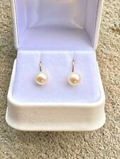 Vintage Antique Pearl Earrings in 9ct Gold