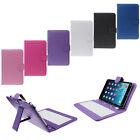 Para Tablet PC 7 pulgadas Universal funda de piel para Micro USB Teclado Soporte