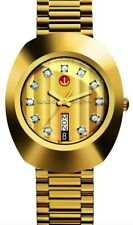 New Rado Diastar R12413493 Automatic Gold Plated Swiss Men's Wrist Watch .