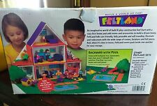 FELTLAND Backyard with Pool 29 Piece Set Doll House Felt board daycare childcare
