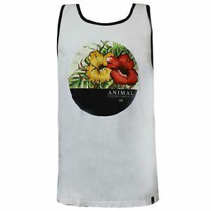 Animal Mens Yonder Vest Sleeveless Tee Casual Summer Vest White CL5SG06