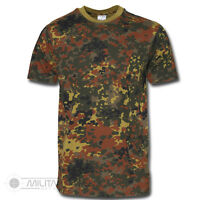 MILITARY FLECTARN CAMOUFLAGE CAMO T SHIRT US ARMY 100% COTTON