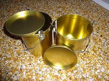 2 Stück Honigeimer 2,5 kg Blech mit Henkel und Deckel Imkerei Honig Blecheimer