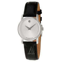 Movado Museum Women's Swiss Quartz Silver Dial Watch 2100003