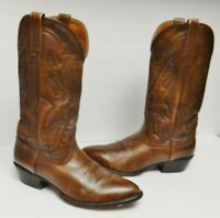 Nocona Men's Boots Western Cowboy Leather Pull On Brown Size 9 EE