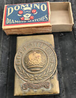 Rare Vintage Gott Mit Uns WWI German Match Box Holder Safe Germany Trench Art