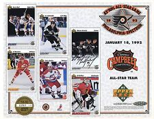 Wayne Gretzky Auto 8 X 10 Upper Deck 1992 NHL All-Star Game