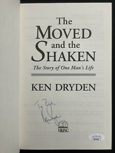 Ken Dryden Signed Book The Moved And The Shaken HCB Hockey Personalized Auto JSA