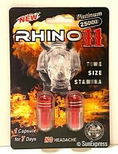 *FLASH SALE* Rhino 11 Sex Pill Performance Male Enhancement 25000 Platinum