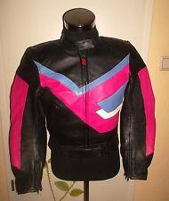 vintage POLO Motorrad Lederjacke 80`s motorcycle moto leather jacket 42 M
