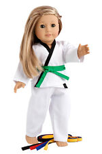 "Yin and Yang - Martial Arts Sports Outfit for 18"" American Doll, Karate Tae Kwon"