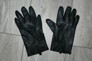 QUALITY SOFT LEATHER NAPPA GLOVES with FLEECE LINING M MEDIUM