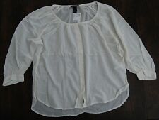 Womens white shirt chemise muslin top medieval peasant hippie bohemia size 8 NWT