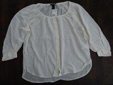 Womens white shirt chemise muslin top medieval peasant hippie bohemia size 8 NWT
