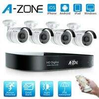 A-ZONE 8CH 1080P DVR AHD Security Camera System Home Outdoor CCTV Night Vision