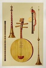Chinese and Japanese Instruments  Musical Instrument Chromolithograph 1888